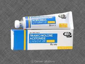 side effect of the drug triamcinolone acetonide