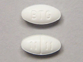 Small White Oval Pill