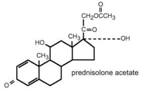 Prednisolone Acetate Structural Formula Illustration