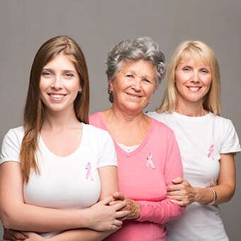 Genetic testing should be considered if a woman has a family history of breast cancer.