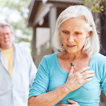Chest pain can be caused by heart related illnesses.