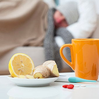Lemon, ginger, fruit, liquids, and medications are home remedies that may fight the common cold.