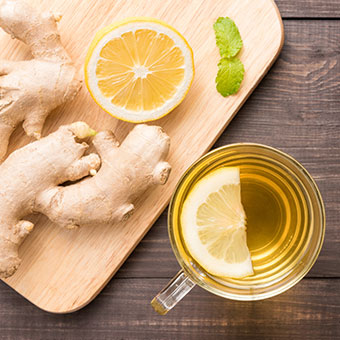 Ginger tea with lemon is one of many home remedies to relieve and soothe chronic cough symptoms.