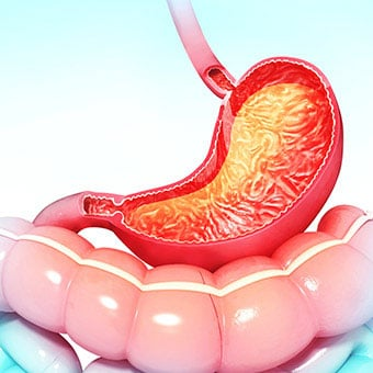 Gastritis can result in stomach pain and digestive problems.