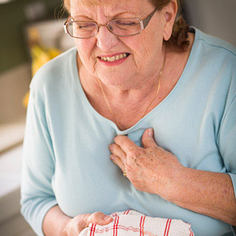 Chest pain and shortness of breath are common symptoms of a heart attack.