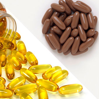 Alternative medical therapies for menopause include vitamin E and black cohosh capsules.