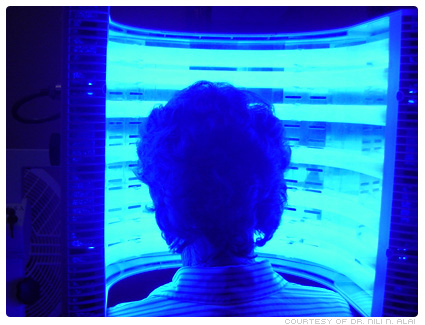 Blue-light activation