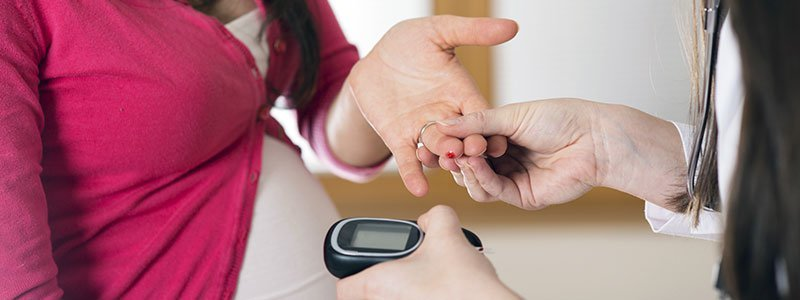 Image illustrating the concept of gestational diabetes.