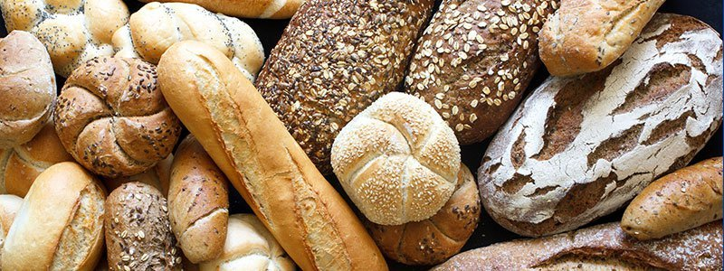 Photo of gluten and wheat products.