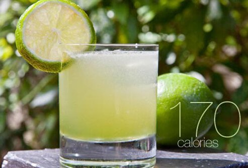 Photo of margarita and lime.