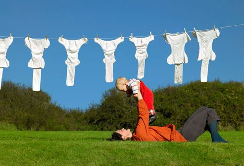 Cloth diapers and a high-efficiency washing machine are eco-friendly.