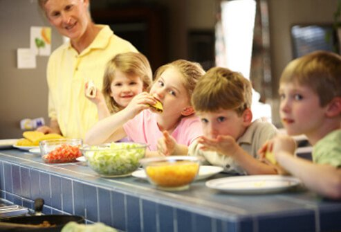 Give the kids some control over what they eat.