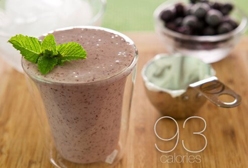 A blueberry smoothie.