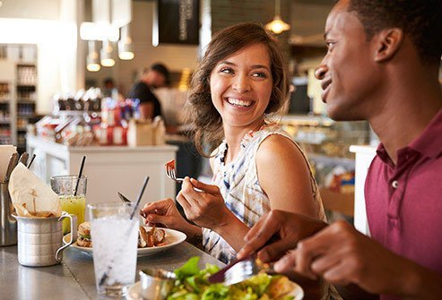 Restaurant food is high in unhealthy fats, calories, sugar, and salt.