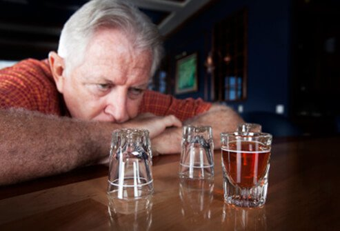 Heavy alcohol consumption often goes hand in hand with depression.