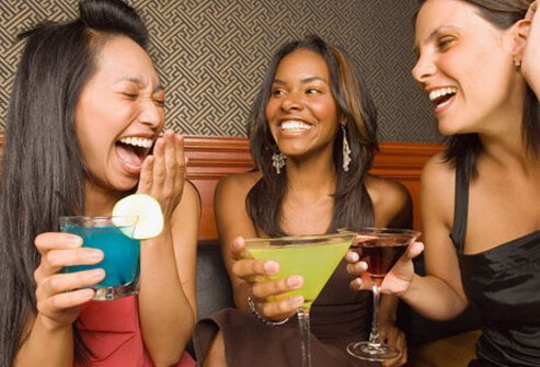 Don't go crazy with free drinks on Ladies' Night.