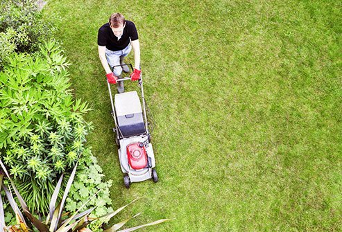 Summer kids safety includes keeping them away from lawn mowers.