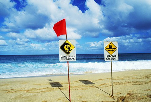 Rip currents can pull even strong swimmers out to sea.