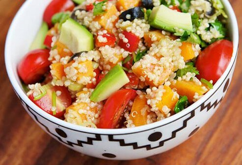 Photo of quinoa veggie salad.