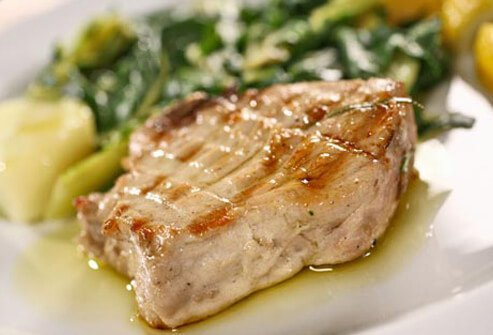 Photo of tuna steak.