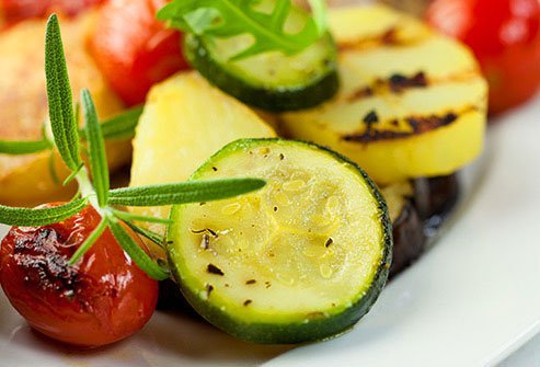 Produce tends to have more nutrients and less fat and calories than meat, dairy products, or grains.