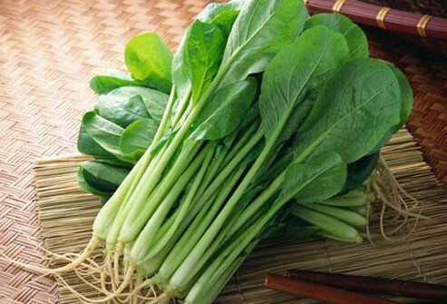 Photo of mustard spinach.