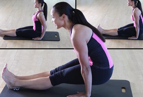 This powerful upper-body toner can be done on a mat, reformer, or Wunda chair.