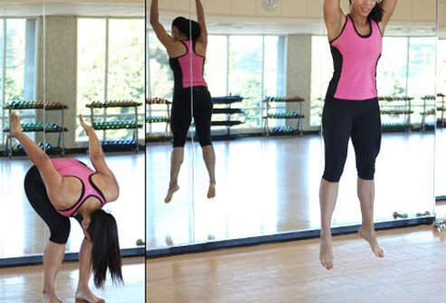 While the focus of Pilates is strength training, you'll get some cardio in with moves like this.