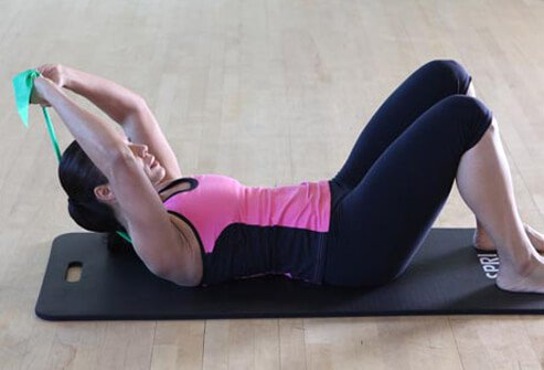 If sit-ups give you a sore neck, try this alternative.