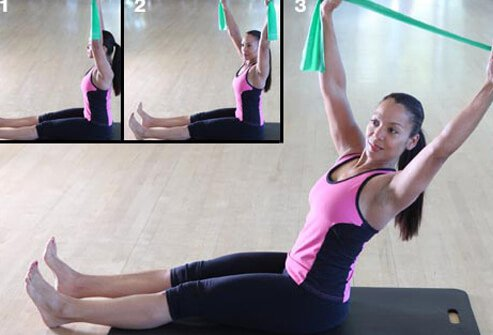 Keep that resistance band handy for this waist-toning move.