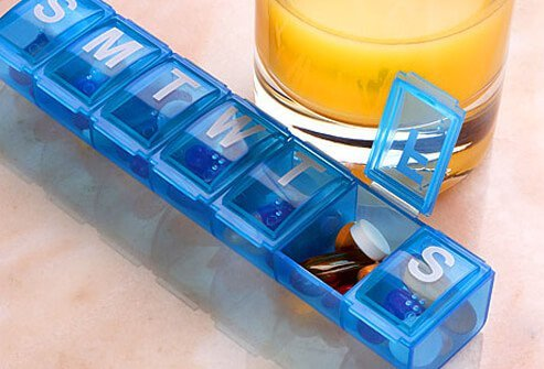 Photo of daily pill organizer.