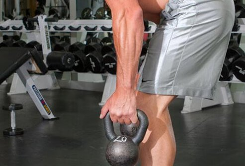 A vigorous workout with a kettlebell -- a cast iron ball with a handle -- can burn 272 calories on average in just 20 minutes.