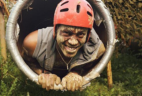 Only the fit and fearless can tackle this obstacle race.