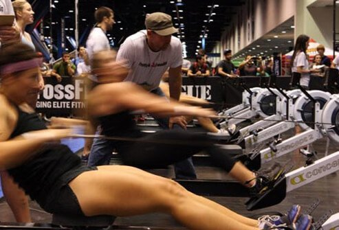You can burn about 15 calories per minute with this intense workout.