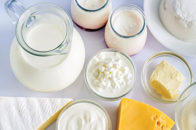 Include low-fat and fat-free dairy products and milk substitutes in your diet.