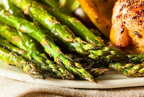 A variety of green veggies from asparagus to cabbage are good sources of vitamin K.