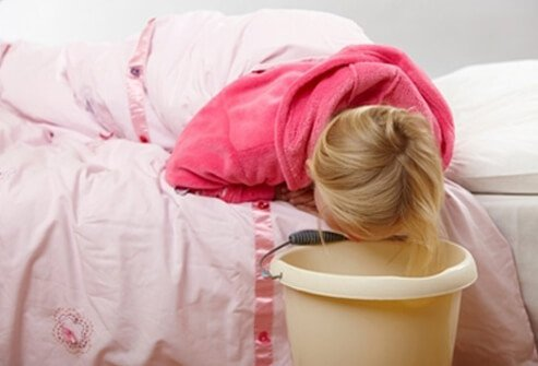 See the doctor if your child develops nausea or vomiting that lasts longer than 24 hours.