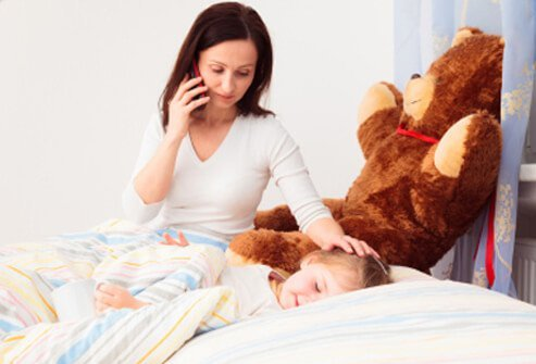 Monitor your child for a few days or longer while he or she is recovering from the cause of abdominal aches.