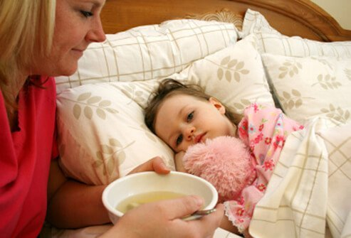 Broths can ease stomach ache and help rehydrate a child who doesn't feel well.