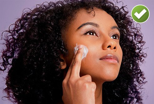 Acne treatments may dry or irritate the skin.