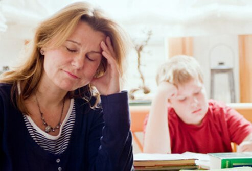 A mom is frustrated with her child's poor schoolwork.