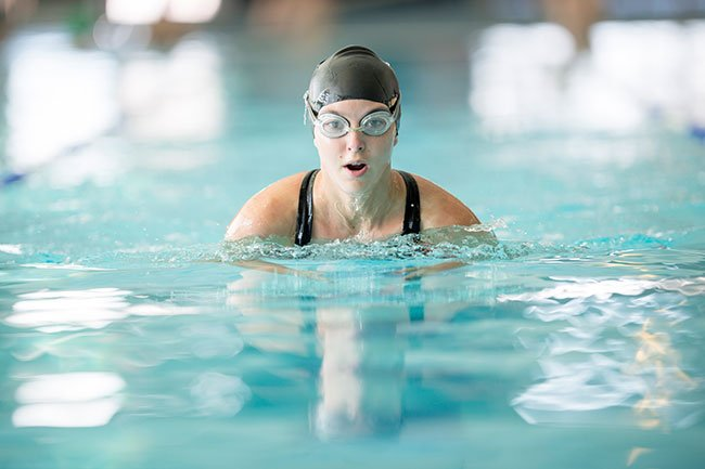 Swimmer's acne may occur in people who spend lots of time in chlorinated water.