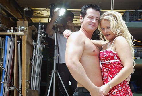 Husband and wife adult film actors.