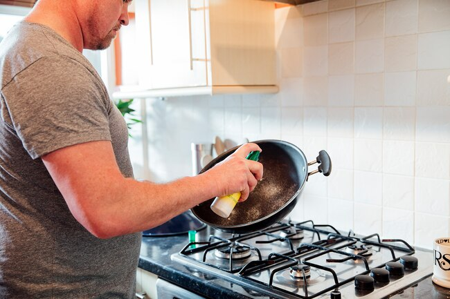 Non-stick cooking spray may contain harmful ingredients.
