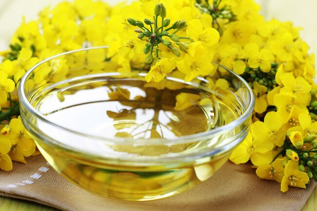 Canola oil may help lower the about of cholesterol your body absorbs while supplying healthy omega-3 fatty acids.