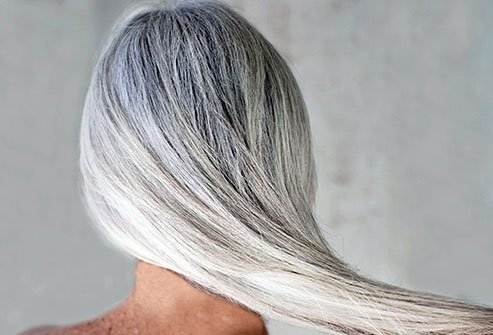 Going all natural is an option for women who do not want to have dyed hair.