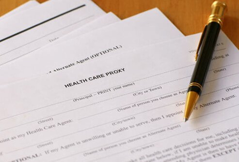 Health care forms.