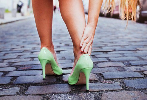 Chronic high heel use places strain on your feet, knees, and back.