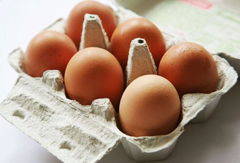 Photo of a carton of eggs.