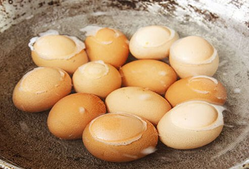 Photo of hard-boiled eggs.